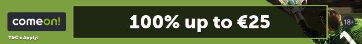 Comeon - Nu 300% bonus!