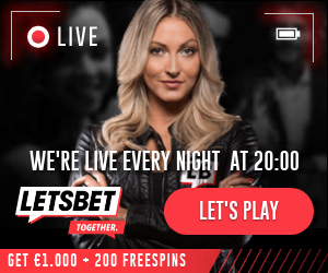 LetsBet Casino GET UP TO €1.000 BONUS +200 FREESPINS Banner