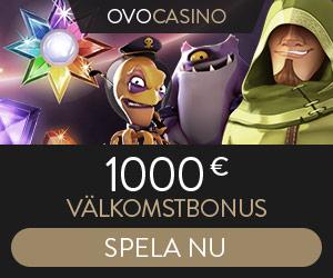OVO Casino - 1000€ i välkomstbonus!