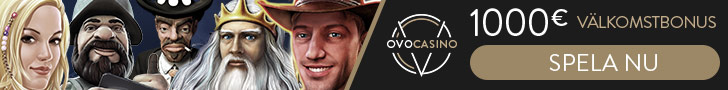Ovo-Casino - Nytt casino med ett supererbjudande!