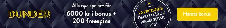 6000 kr + 200 gratisspel - Inled med Dunder och brak