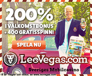Leovegas - 400 gratisrundor plus 50 000 kr