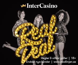InterCasino - 10 free spins utan insättning + upp till 9000 sek + 100 bonus spins